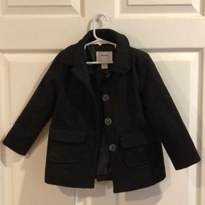 Girls black peacoat